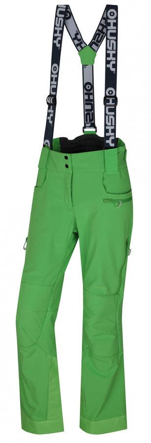 Zelené dámské lyžařské kalhoty Husky - velikost M