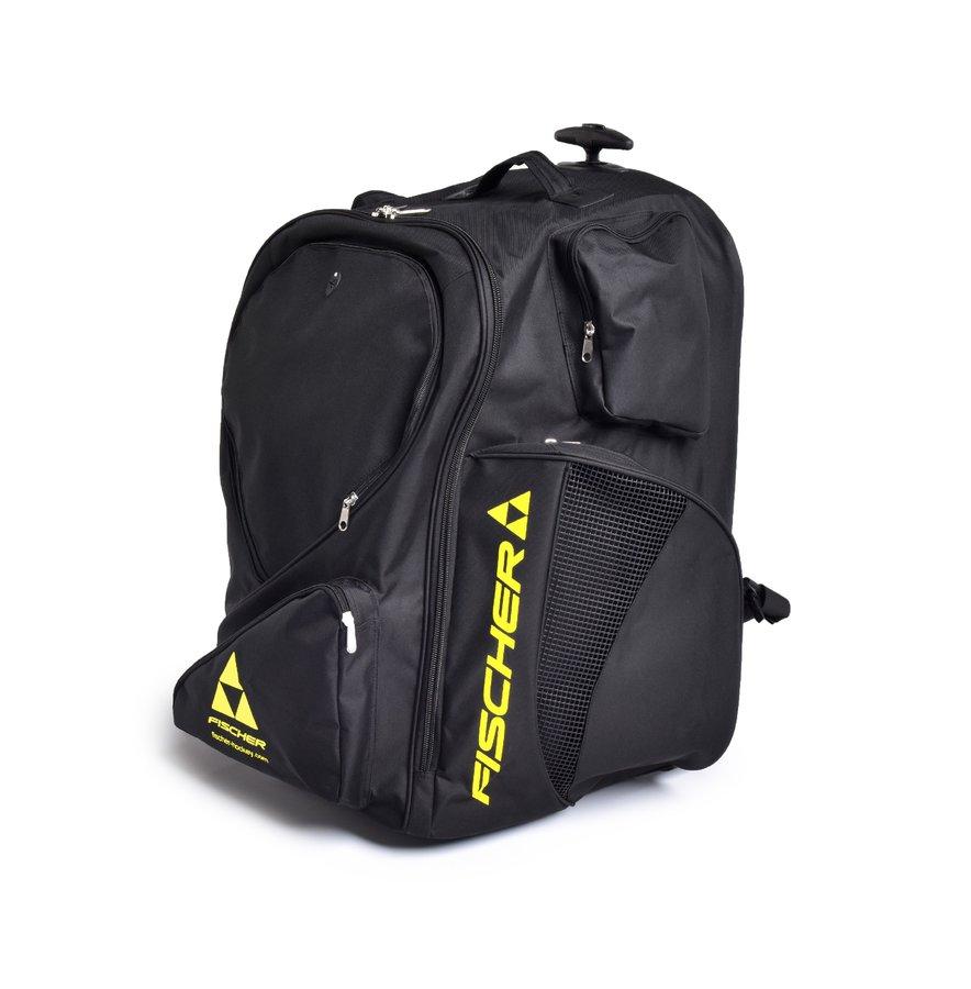 Hokejová taška - Fischer Hockey Taška s kolečky FISCHER Backpack JR Barva: BK- černá, Velikost: Junior