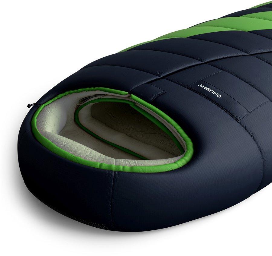 Zelený spací pytel Husky - délka 210 cm