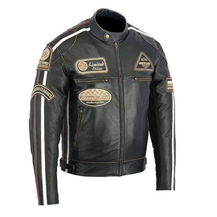 Černá pánská motorkářská bunda 2058, BOS