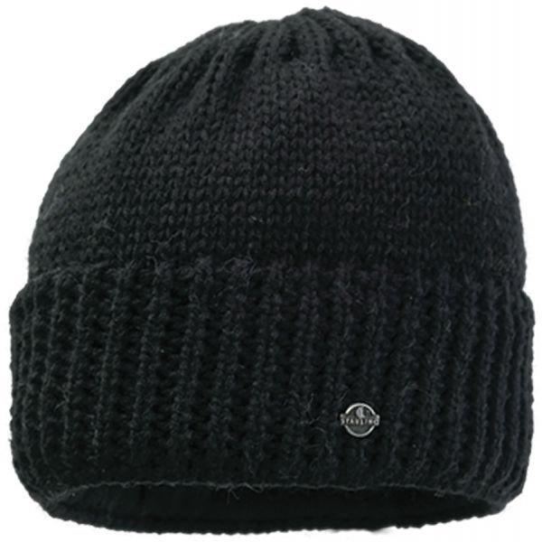 Černá pánská zimní čepice Starling - univerzální velikost