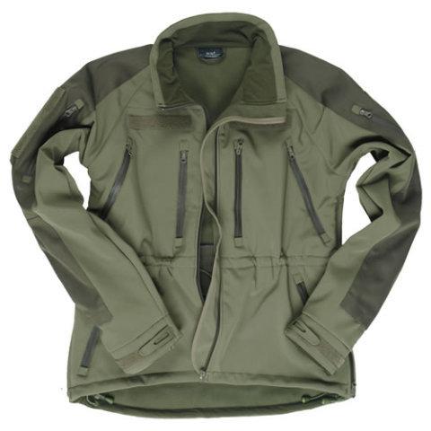Vojenská bunda - Bunda SOFTSHELL PLUS ZELENÁ