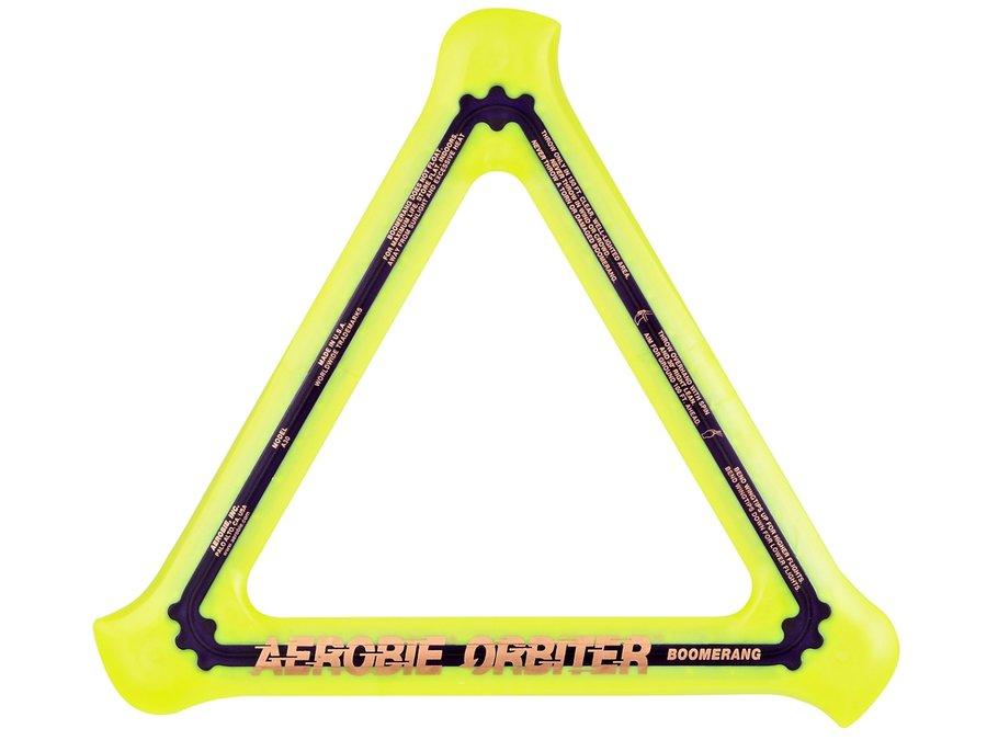 Žlutý polykarbonátový bumerang Orbiter, Aerobie