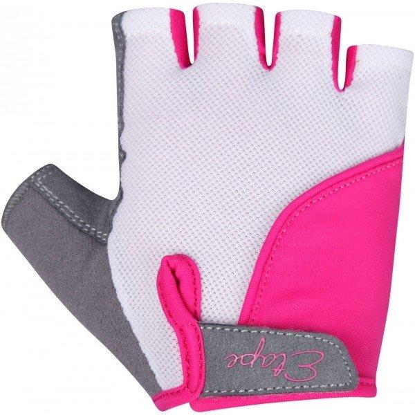 Bílo-růžové dívčí cyklistické rukavice Etape