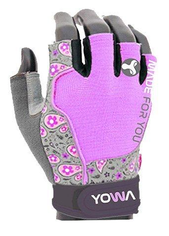 Růžovo-šedé dámské fitness rukavice YOWA