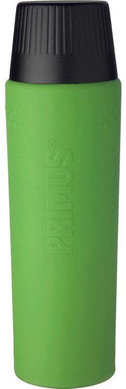 Zelená termoska na pití Primus - objem 1 l