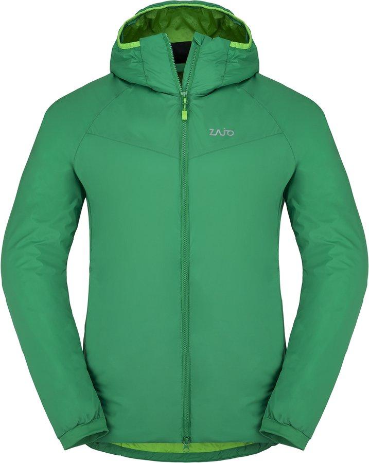 Zelená zimní pánská bunda s kapucí Zajo - velikost XL