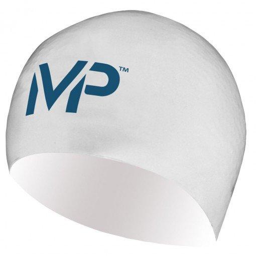 Bílo-modrá dámská nebo pánská plavecká čepice Race Cap, Michael Phelps