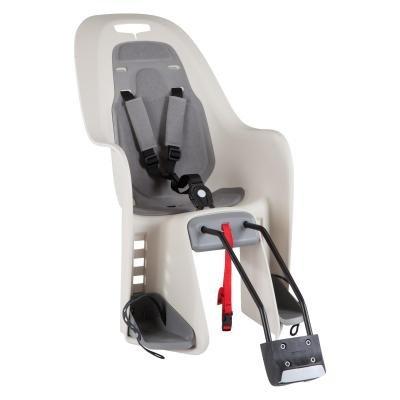 Béžovo-šedá dětská sedačka na kolo zadní umístění B'TWIN - nosnost 22 kg