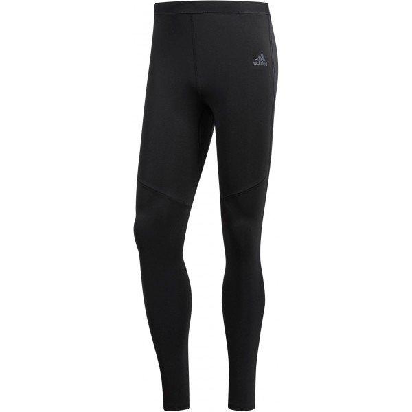 Černé pánské běžecké legíny Adidas - velikost XXL