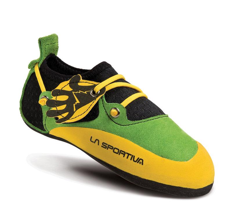 Zeleno-žluté dětské lezečky La Sportiva - velikost 32-33 EU