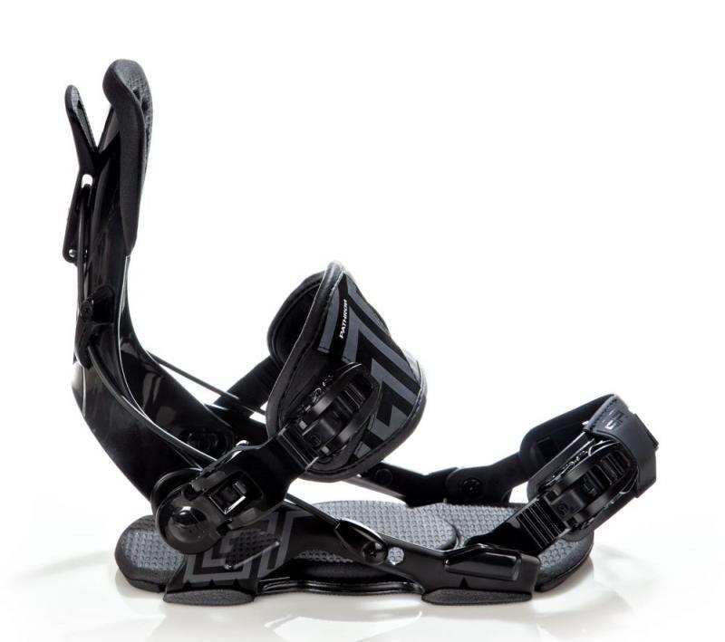 Černé vázání na snowboard Pathron