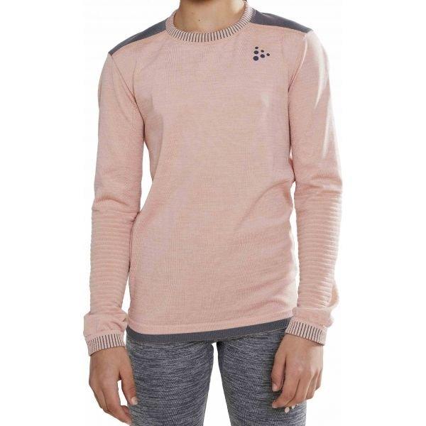 Růžové dívčí funkční tričko s dlouhým rukávem Craft
