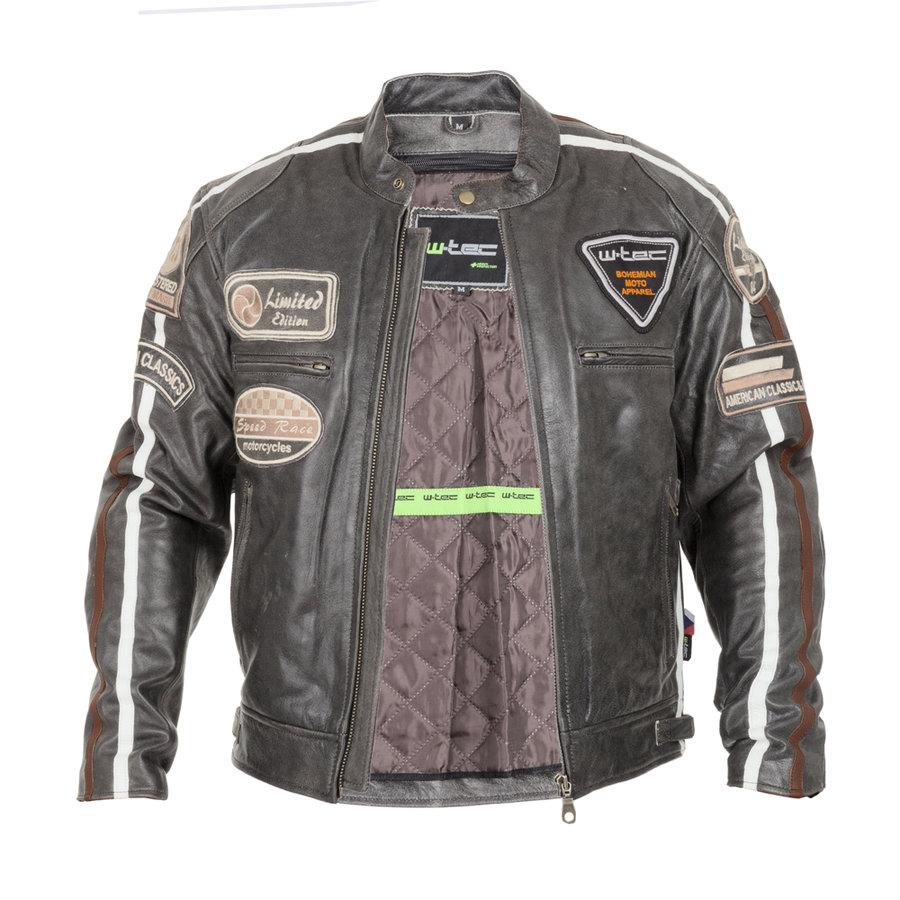Šedá pánská motorkářská bunda Antique Cracker 5f43aa3f497