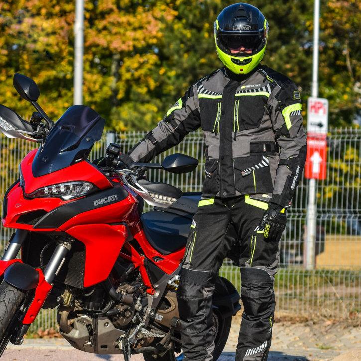 Černá pánská motorkářská bunda Roadrunner, Spark - velikost 3XL