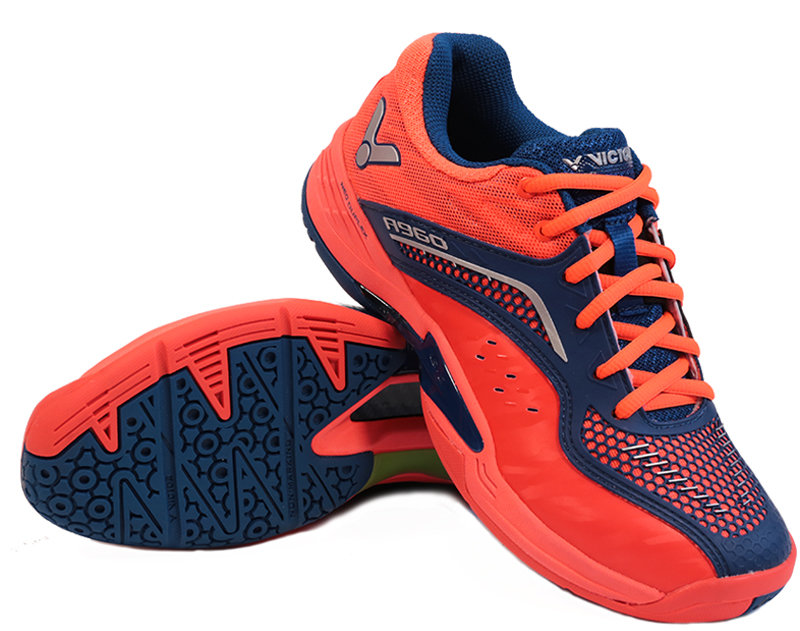 Červeno-modrá pánská sálová obuv A960, Victor - velikost 41 EU