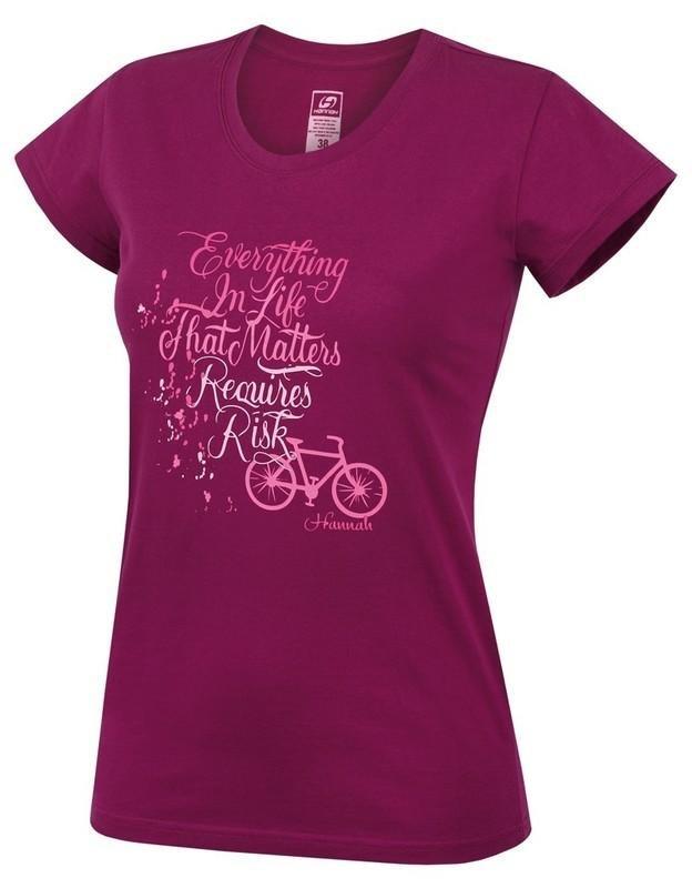 Červené dámské tričko s krátkým rukávem Hannah - velikost 36