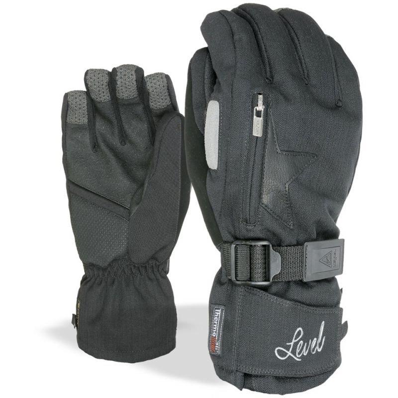 Černé zimní rukavice Level - velikost S
