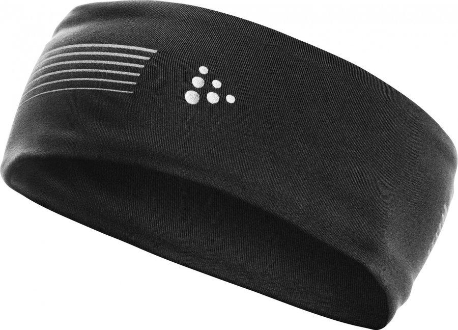 Černá běžecká dámská nebo pánská čelenka Brilliant, Craft - velikost L-XL