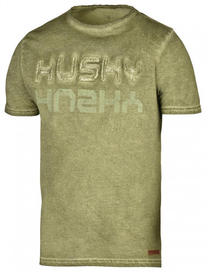 Zelené pánské tričko s krátkým rukávem Husky - velikost XL