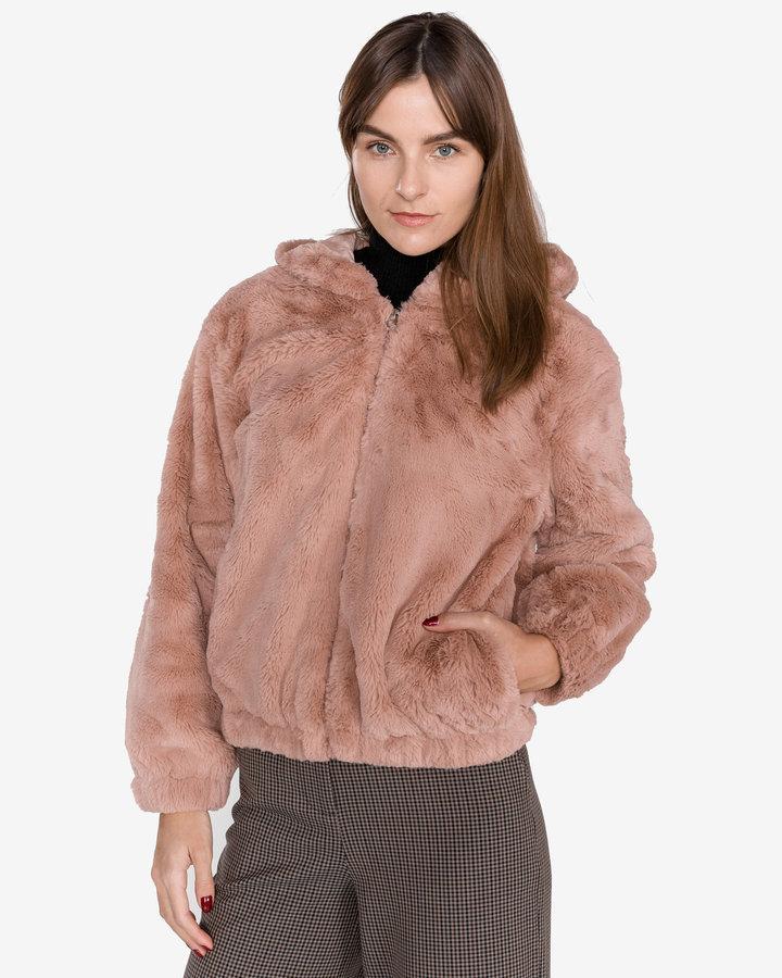 Růžová zimní dámská bunda French Connection