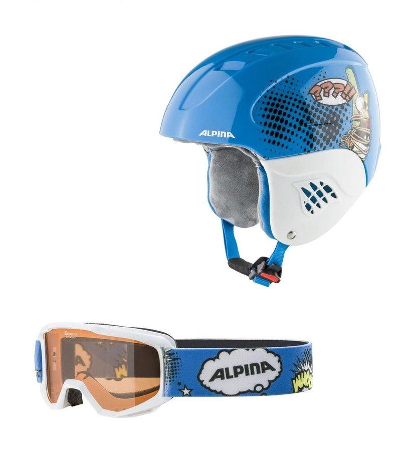 Modrá dětská lyžařská helma Alpina Sports
