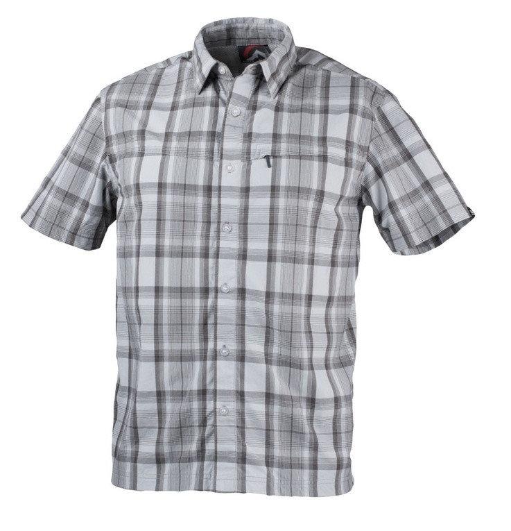 Šedá pánská košile s krátkým rukávem NorthFinder - velikost M