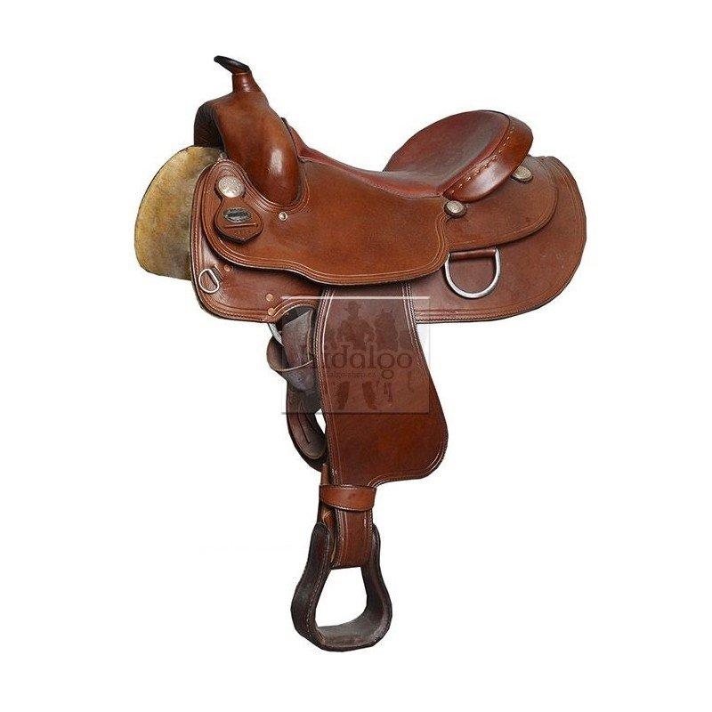 Hnědé westernové sedlo na koně Allround, Mastercraft