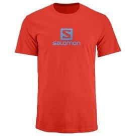 Oranžové pánské tričko s krátkým rukávem Salomon - velikost L