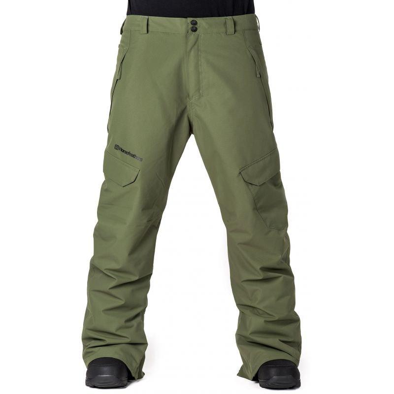 Zelené pánské snowboardové kalhoty Horsefeathers - velikost L
