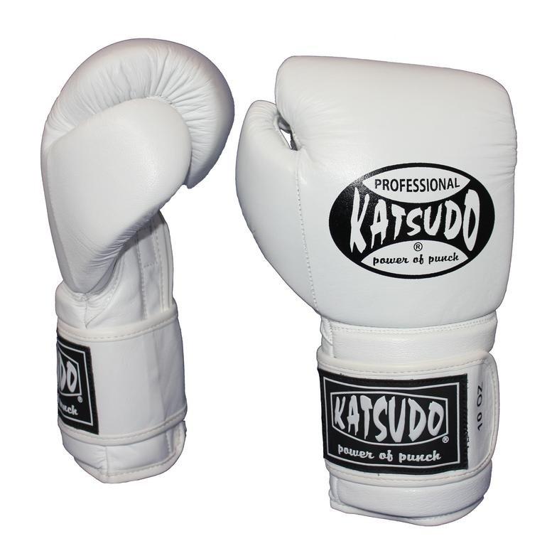 Bílé boxerské rukavice Katsudo