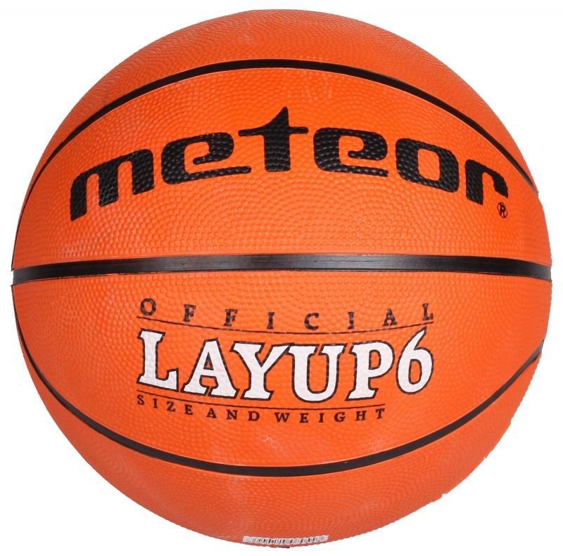 Oranžový basketbalový míč Layup, Meteor
