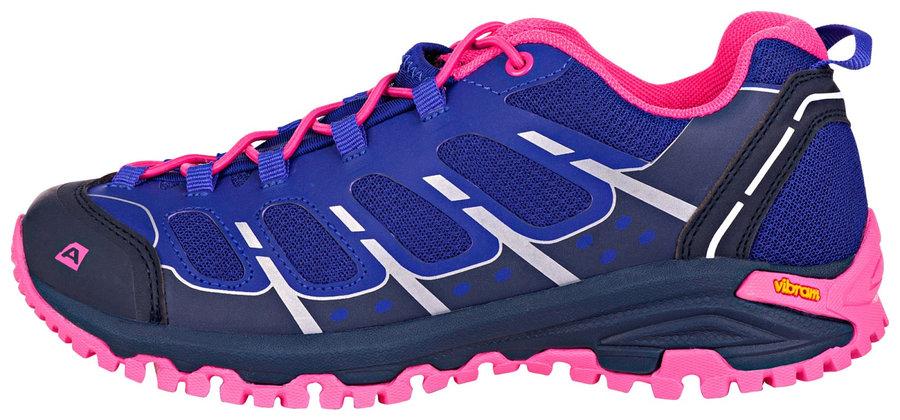 Modro-růžové pánské trekové boty Alpine Pro