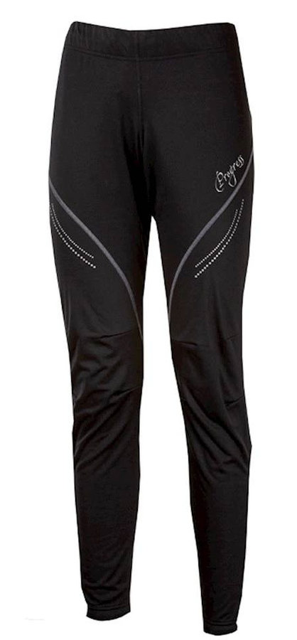 Černo-šedé dámské kalhoty na běžky Progress