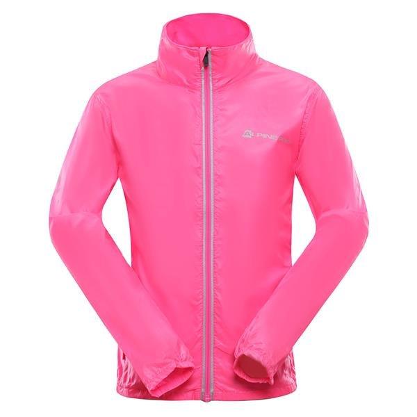 Růžová sportovní dívčí bunda Alpine Pro - velikost 116-122