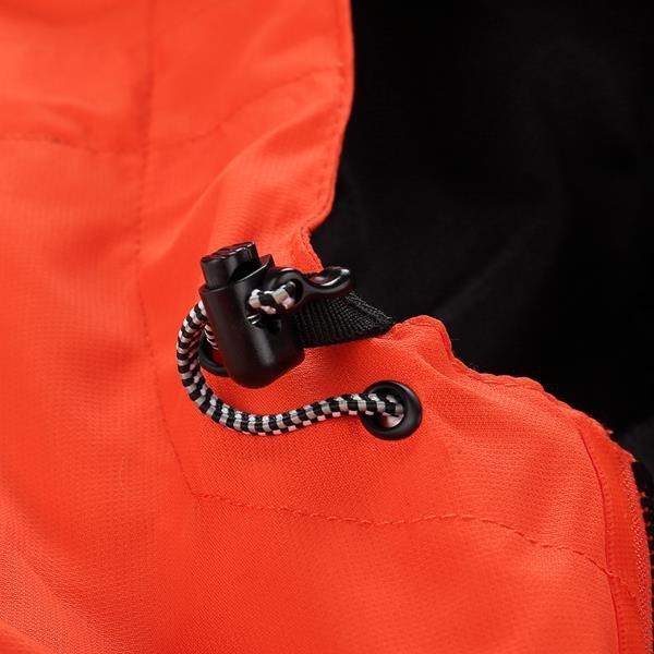 Oranžová pánská turistická bunda Alpine Pro - velikost XL