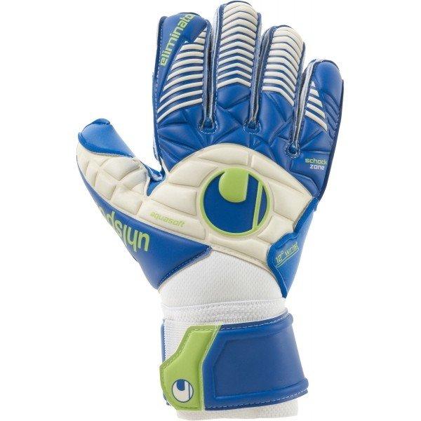 Bílo-modré pánské brankářské fotbalové rukavice Uhlsport