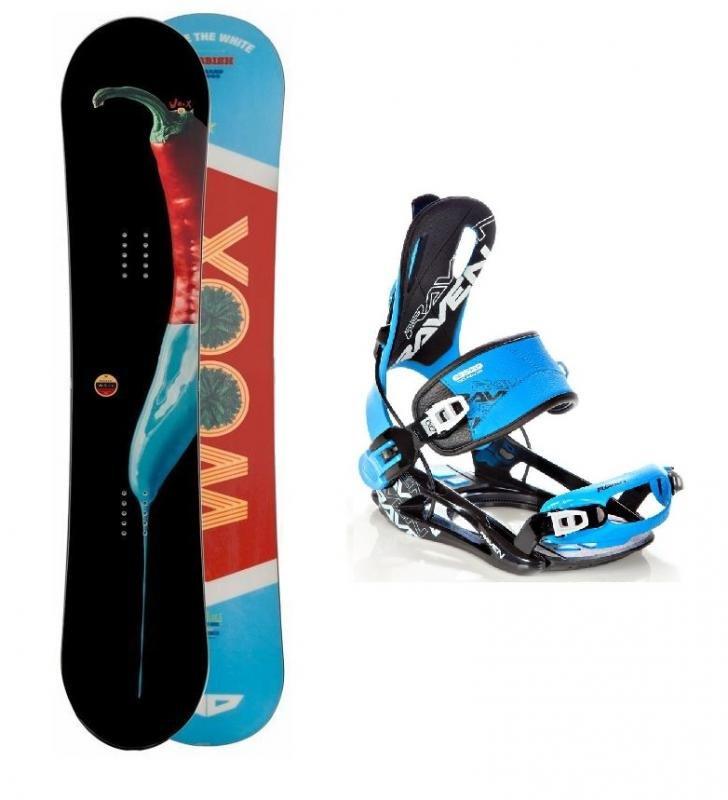 Snowboard s vázáním Woox - délka 160 cm