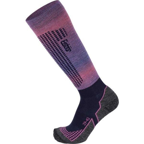 Fialovo-růžové dámské lyžařské ponožky Eisbär