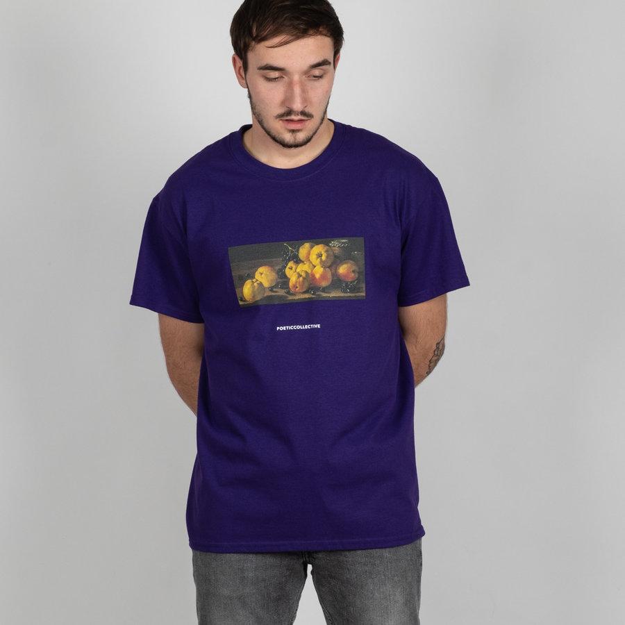 Fialové pánské tričko s krátkým rukávem Poetic Collective