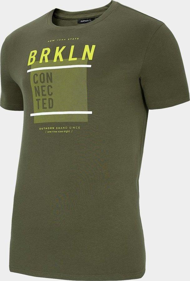 Zelené pánské tričko s krátkým rukávem Outhorn