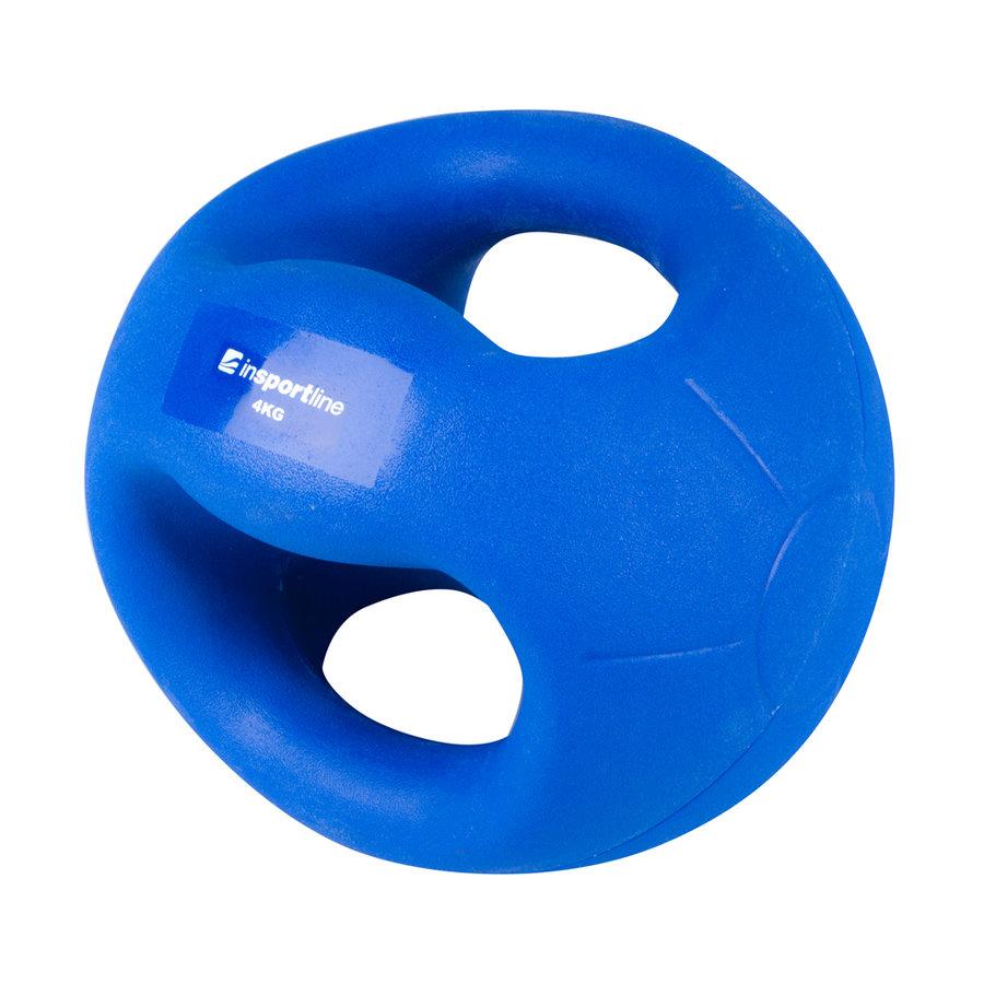 Medicinbal s úchopy Grab Me, Insportline - 4 kg