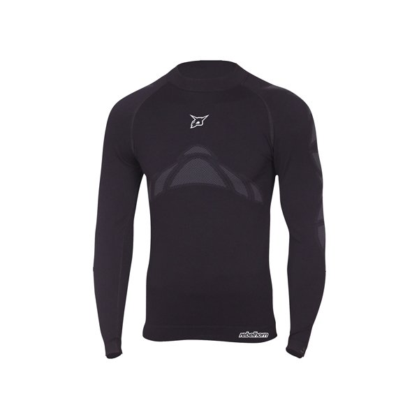 Černé motorkářské tričko Active Jersey, Rebelhorn