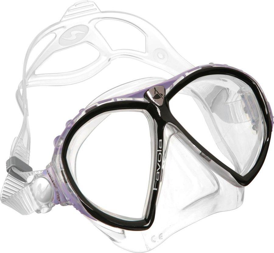 Potápěčská maska - Maska potápěčská (brýle) Favola transparent Technisub, lavender