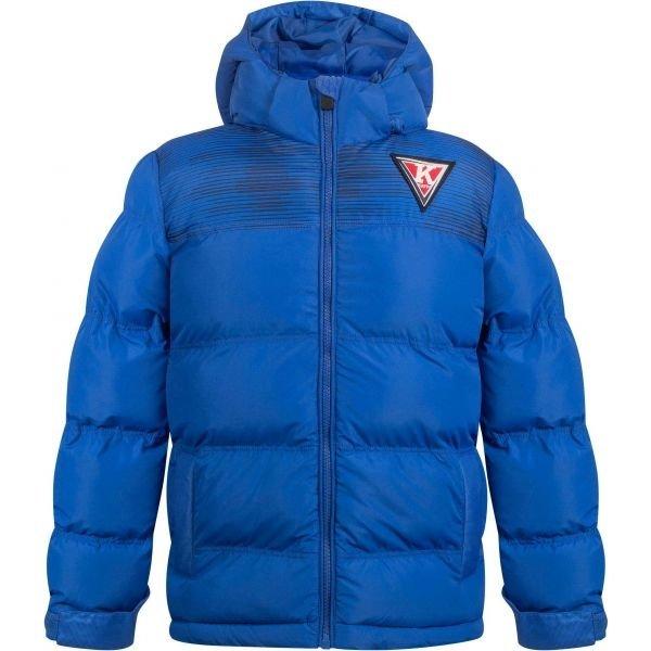 Modrá zimní chlapecká bunda s kapucí Kappa