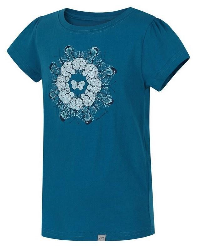 Modré dětské tričko s krátkým rukávem Hannah - velikost 140