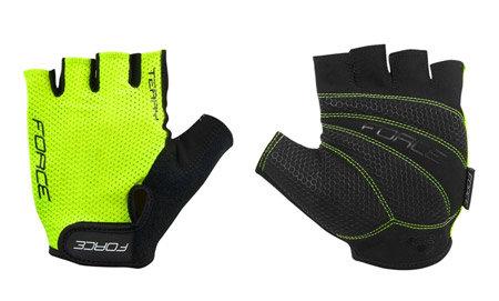 Žluté letní cyklistické rukavice Force