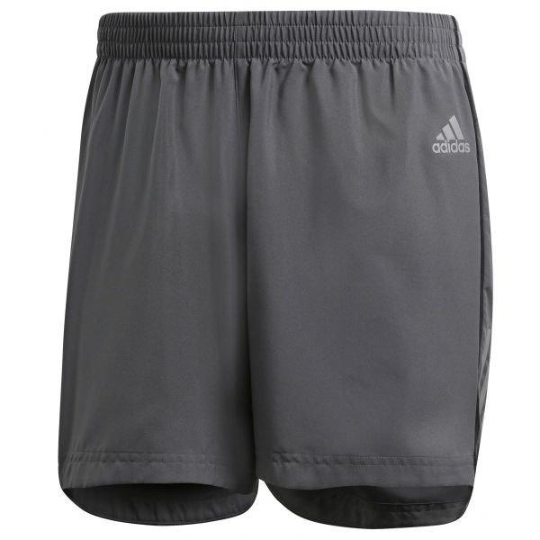 Šedé pánské běžecké kraťasy Adidas - velikost L