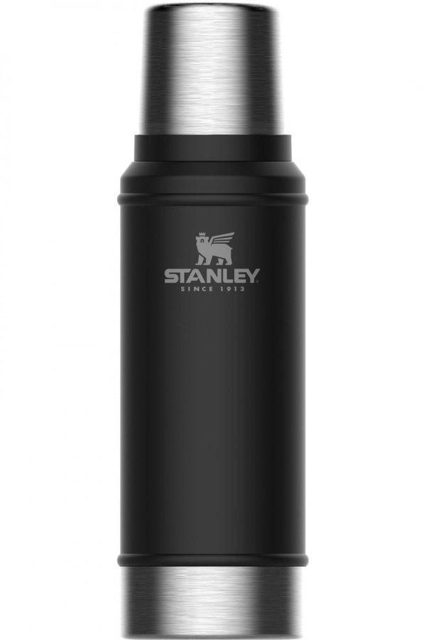Černá termoska na pití Stanley - objem 0,75 l