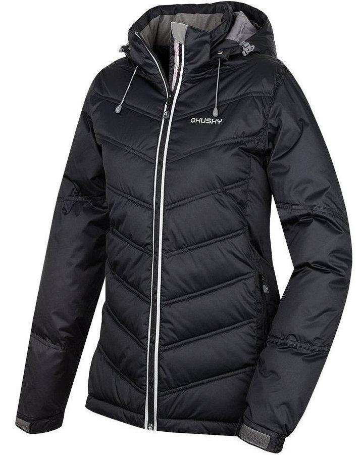 Černá dámská bunda na běžky Husky - velikost S